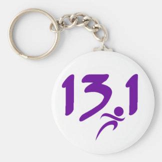 Purple 13.1 half-marathon key chains