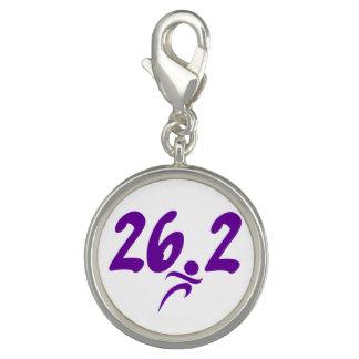 Purple 26.2 marathon charm