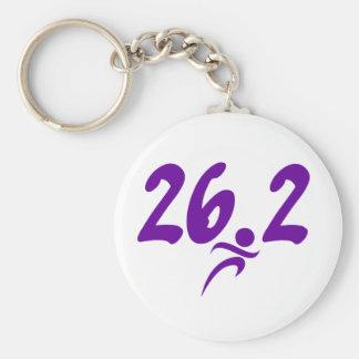 Purple 26.2 marathon keychain