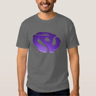 Purple 3D 45 RPM Adapter Tshirts