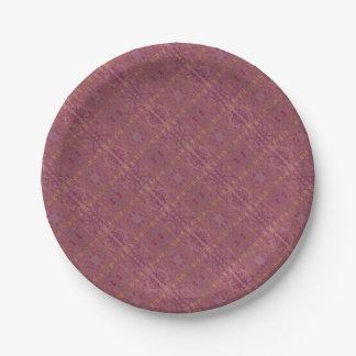 purple 7 inch paper plate