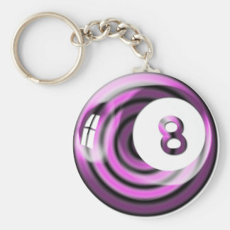 Purple 8 ball keychain