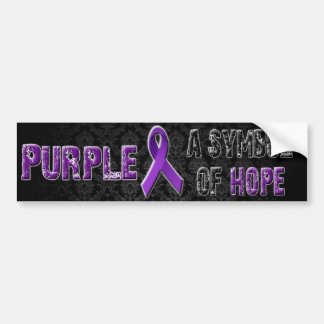 Purple a symbol of hope... Bumper Sticker