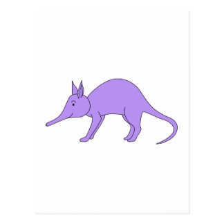 Purple Aardvark Postcard