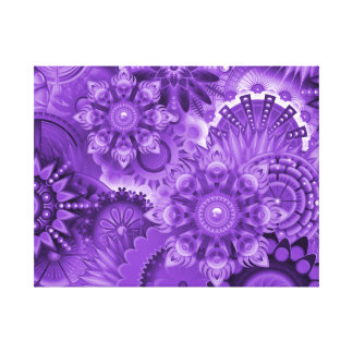Purple Abstract 001 Design Color Canvas Print