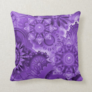 Purple Abstract 001 Design Throw Pillow