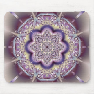 Purple Abstract Art Design Mouse Pad
