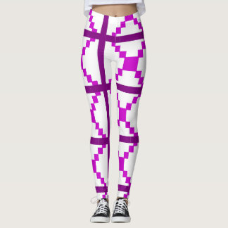 Purple abstract art leggings