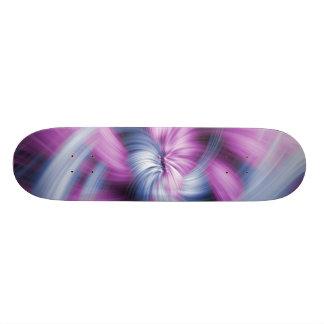 Purple Abstract Art Skate Board