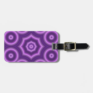 Purple Abstract circle pattern Luggage Tag