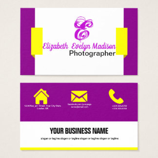 purple abstract Elegant 001 Business Card