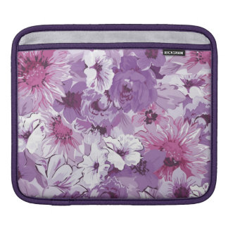 Purple Abstract Elegant Floral Design iPad Sleeve