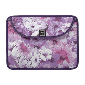 Purple Abstract Elegant Floral Design Sleeves For MacBook Pro