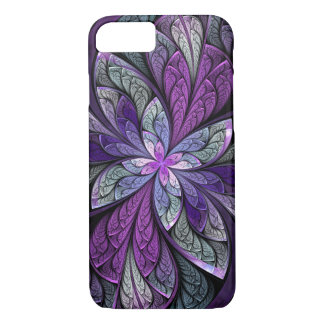 Purple Abstract Floral Stained Glass iPhone 8/7 Case