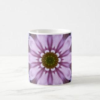 Purple Abstract Flower Mug