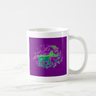Purple Abstract Fox Basic White Mug