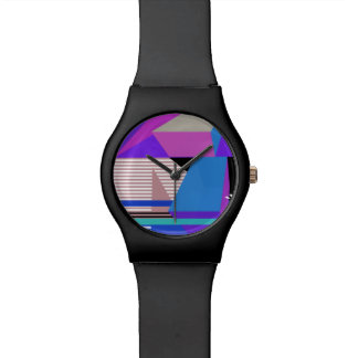 Purple Abstract Geometric Watch