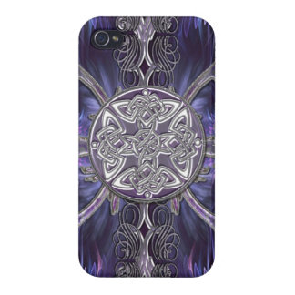 Purple Abstract Gothic i w/ Celtic Knots iPhone 4/4S Case