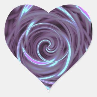 Purple Abstract Heart Sticker