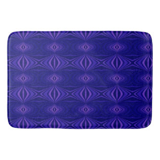 Purple Abstract Pattern Fractal Bath Mat