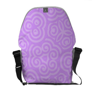 Purple Abstract Pattern Courier Bags