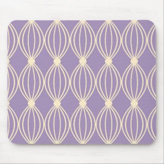 Purple Abstract Pattern Mouse Pad