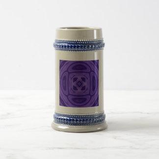 Purple abstract pattern 18 oz beer stein
