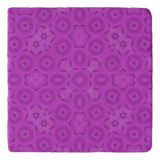 purple abstract pattern trivet