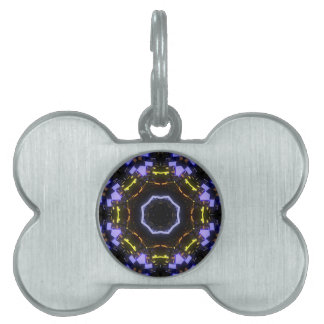 Purple abstract pet name tag