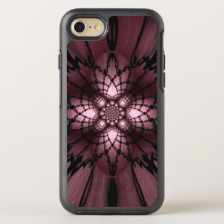 Purple Abstract Plum Black Web Optical Illusion OtterBox Symmetry iPhone 8/7 Case