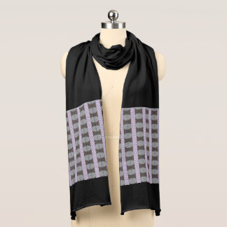 Purple Abstract Print Jersey Scarf