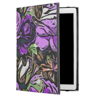 "Purple Abstract Roses iPad Pro 12.9"" Case"