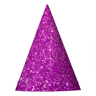 Purple Abstract Shine Glitter Party Hat