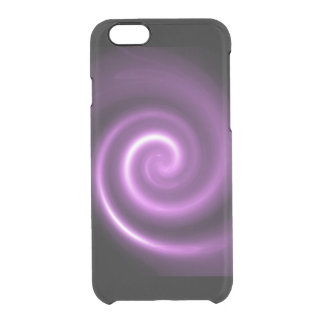 purple abstract spiral clear iPhone 6/6S case