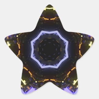 Purple abstract star sticker