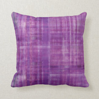 Purple Abstract Stripes Pattern Art Throw Pillow