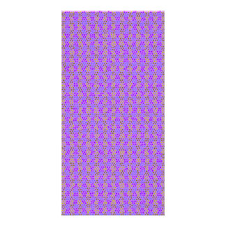 Purple abstract stripes pattern photo card