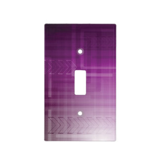 Purple Abstract Tech Print Light Switch Cover