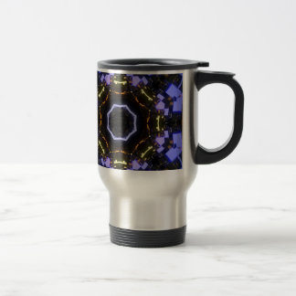 Purple abstract travel mug