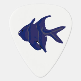 Purple Abstract Tropical Fish Guitar Pick