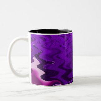 Purple abstract Two-Tone coffee mug