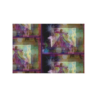 Purple Abstract Woman Dancing Canvas Print