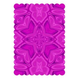 Purple abstract wood pattern custom invitation
