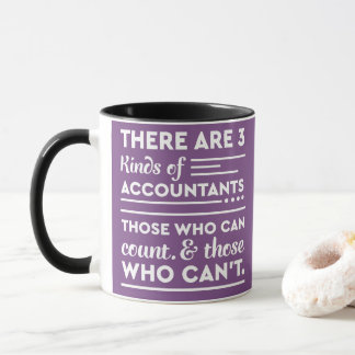 "Purple Accountant Says ""3 Kinds of Accountants"" Mug"
