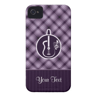 Purple Acoustic Guitar iPhone 4 Case-Mate Case