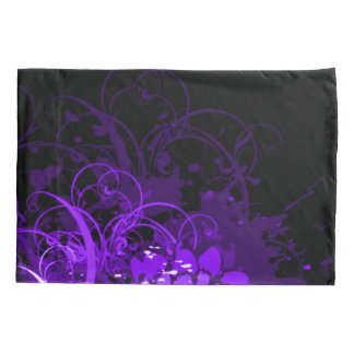 Purple Acrylic Floral Abstract Pillowcase