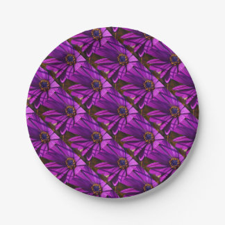 Purple African Daisy Close Up 7 Inch Paper Plate