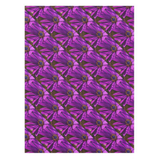 Purple African Daisy Close Up Tablecloth