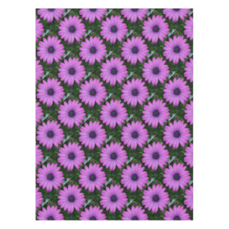 Purple African Daisy with Raindrops Tablecloth