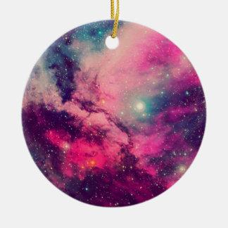 Purple Afterglow Galaxy Ceramic Ornament